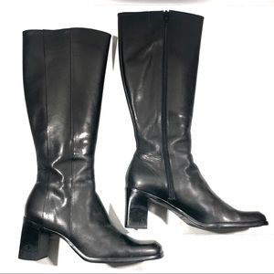 "Gianni Bini Black Leather Knee Boot ""Billie"""